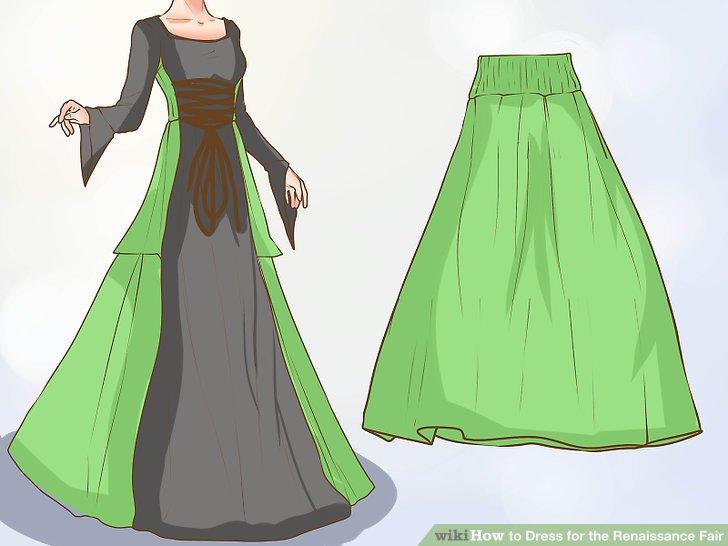 Zieh einen Rock oder ein Kleid an.