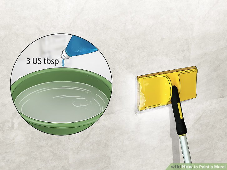 Clean the wall with soap and water to remove impurities.