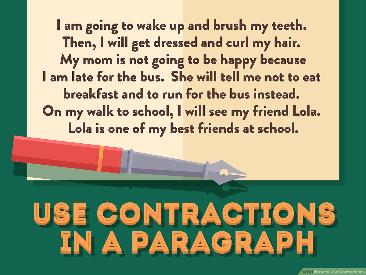 hight resolution of How to Use Contractions: 12 Steps (with Pictures) - wikiHow