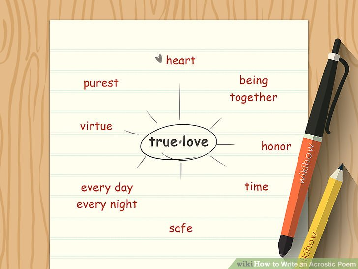 How To Write An Acrostic Poem With Sample Poems WikiHow