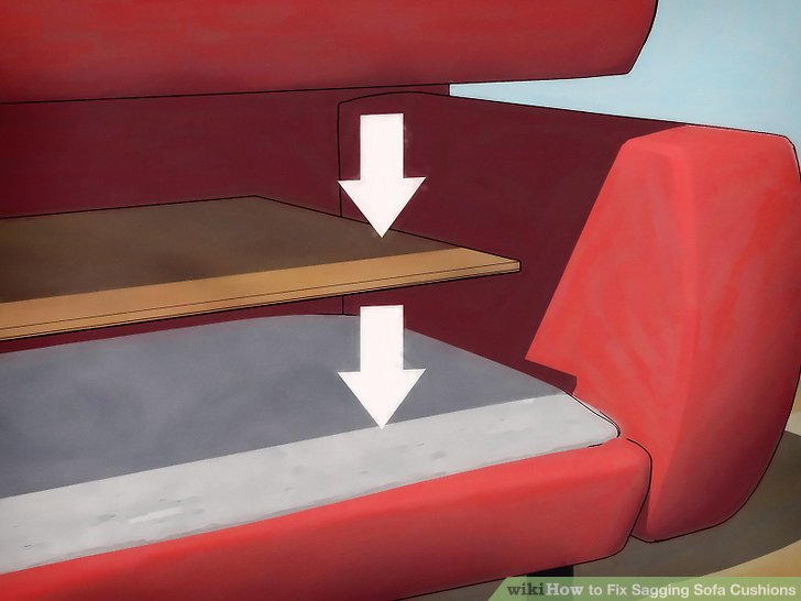 flip open sofa chair vacuum cleaner amazon 4 ways to fix sagging cushions - wikihow