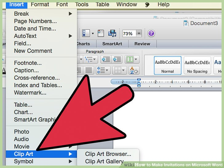 how to create invitations on word