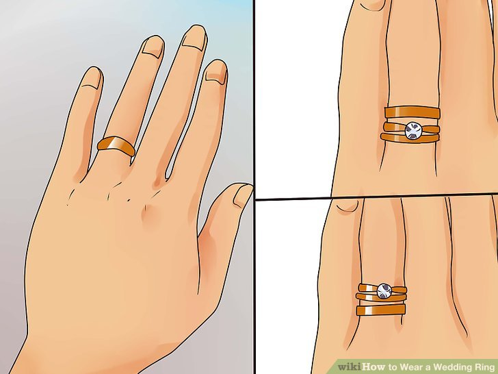 How To Wear Your Wedding Rings