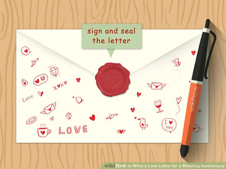 How to how to write a love letter for a wedding anniversary