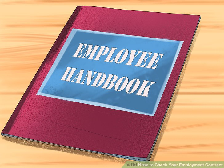 Determine whether your contract references an employee handbook.