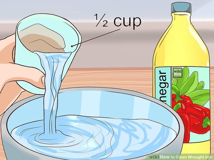 Verwenden Sie Essig für eine mildere Reinigungsoption.