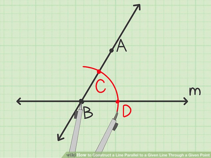 Draw the first angle.