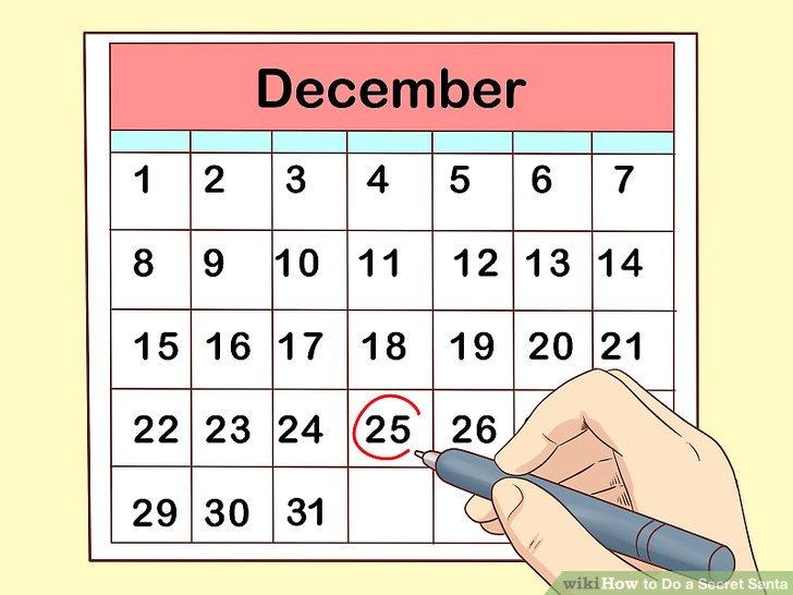 Legen Sie ein Datum für das Verschenken fest.