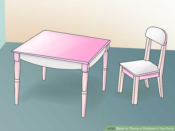 Set up the table and chairs.