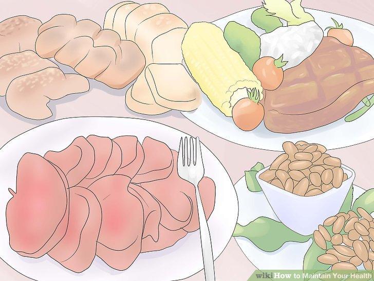 Fügen Sie mageres Fleisch, fettarme Milchprodukte und Vollkornprodukte hinzu.
