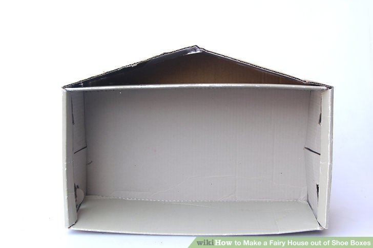 Use extra cardboard to create a back wall for the roof, if desired.