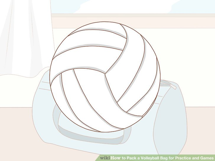 Bringen Sie einen Volleyball zum informellen Training.