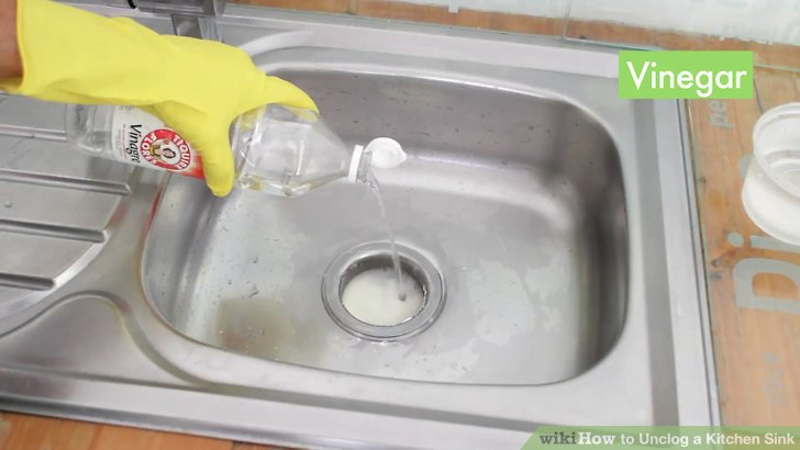 unclog kitchen drain cabico cabinets 3 ways to a sink wikihow image titled step 7