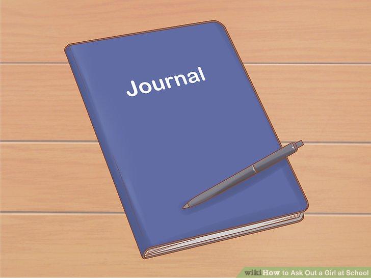 Benutze ein Tagebuch, um sie romantisch zu fragen.