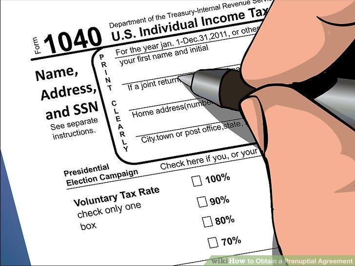 Legen Sie fest, wie die Steuern während der Ehe behandelt werden.