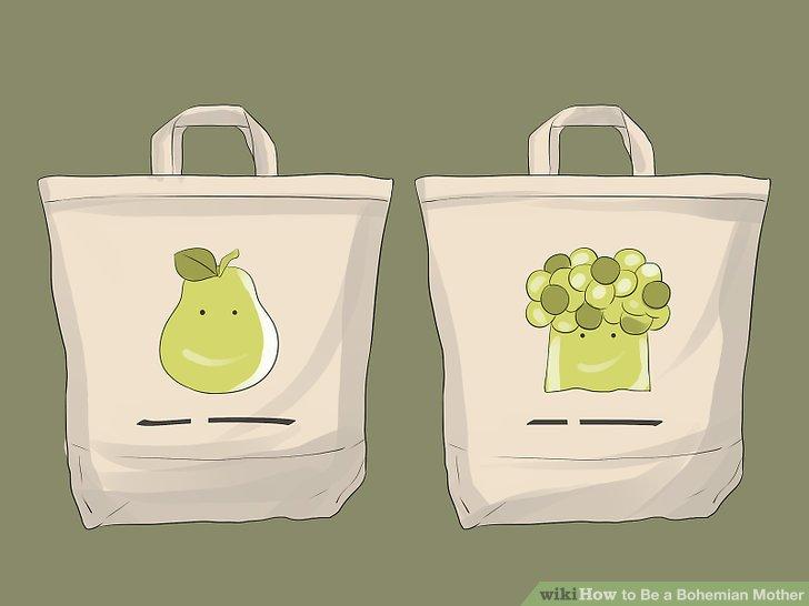 Verwenden Sie wiederverwendbare Taschen im Supermarkt.