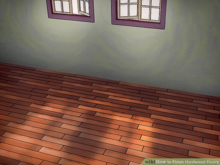Wachsen Sie Ihren Boden, um das Holz zu versiegeln, und polieren Sie es, um überschüssiges Wachs zu entfernen.