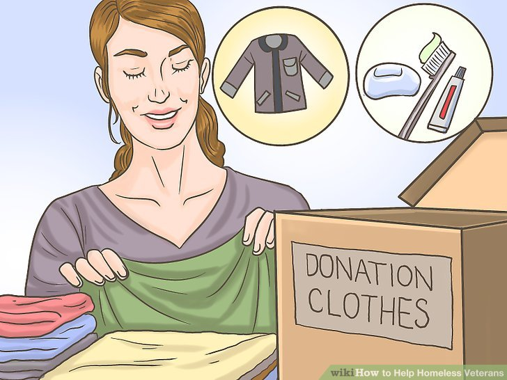 Donate clothing and personal care items.