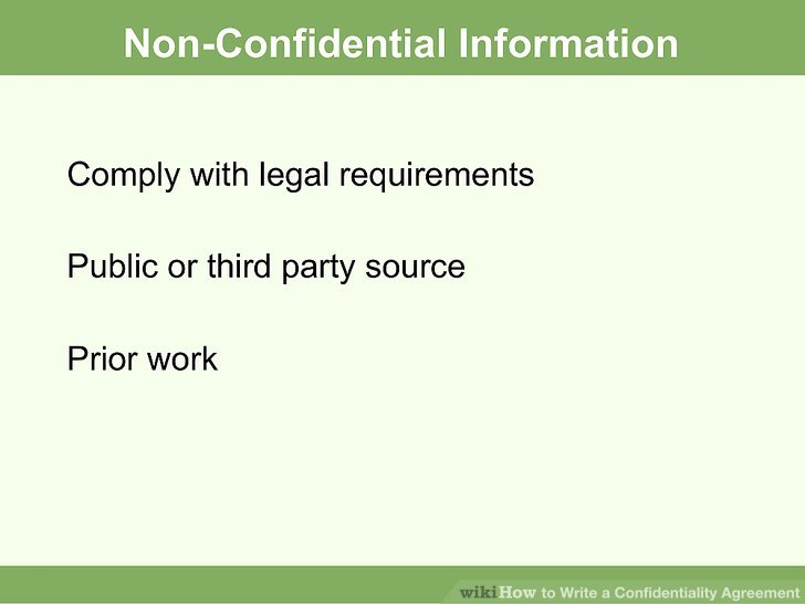 How to Write a Confidentiality Agreement: 10 Steps (with Pictures)