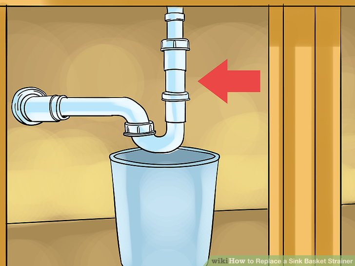 Remove the pipe beneath the sink.