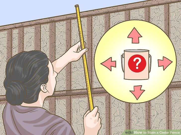 Work out how much stain you'll need by measuring your fence.