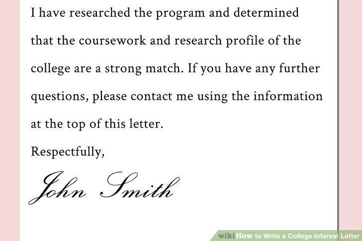 Wie Ist Es Gemacht Wie Schreibt Man Einen College Interesse Brief
