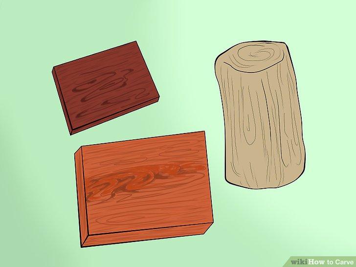 Wähle das richtige Holz.