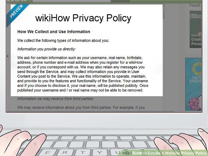 How to Create a Website Privacy Policy with Sample