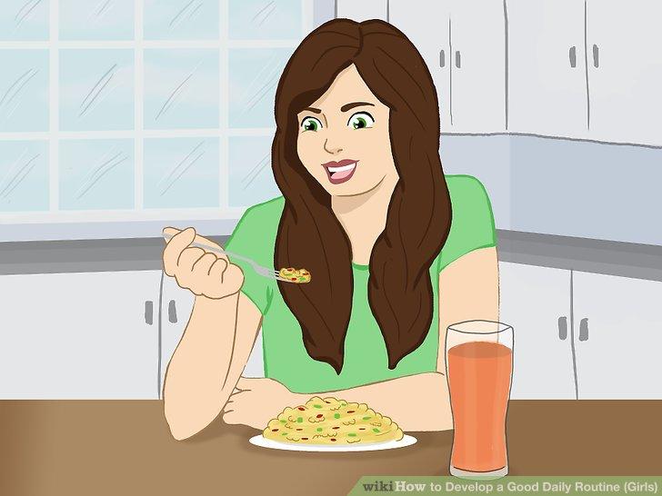 Eat a wholesome, healthy breakfast.