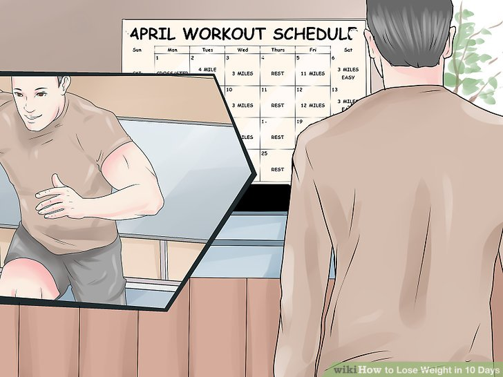 Figure out your workout schedule.
