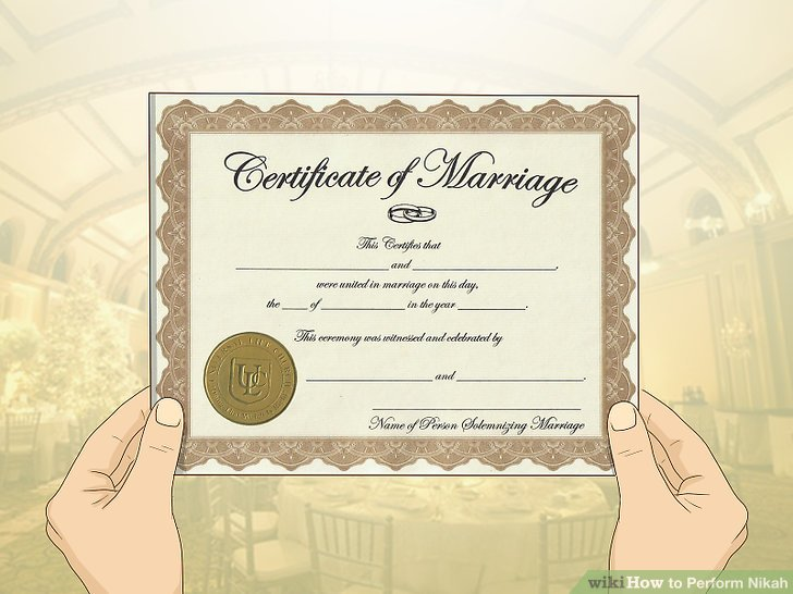 Besorgen Sie sich eine offizielle Heiratsurkunde von Ihrer lokalen Regierung.