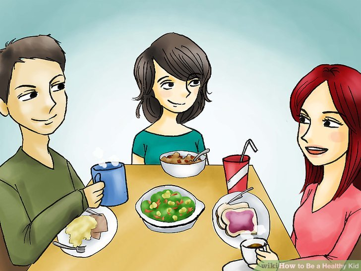 Eat with friends and family.
