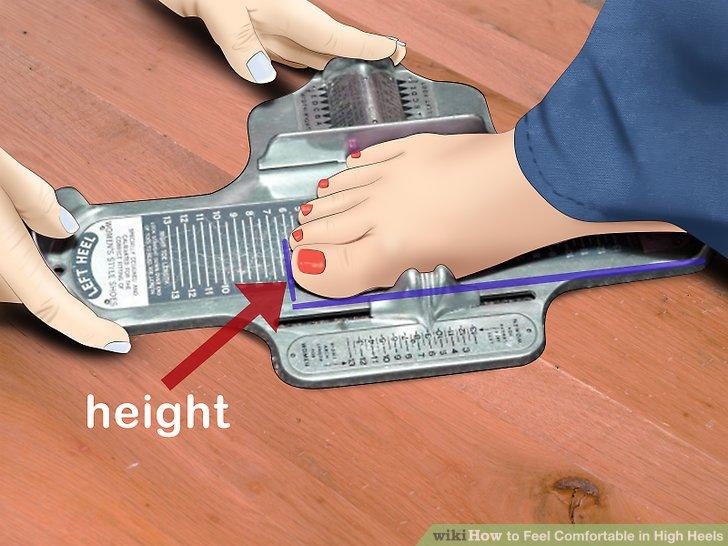 Lassen Sie Ihre Füße messen und messen.