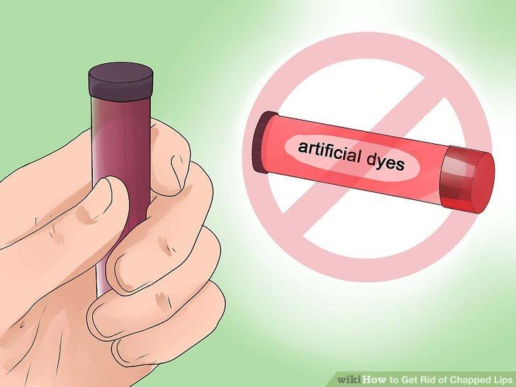 Vermeiden Sie, Ihre Lippen mit Speichel zu benetzen.