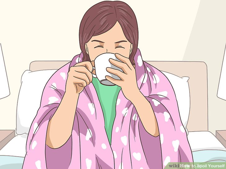 Snuggle in a blanket with a cup of tea.