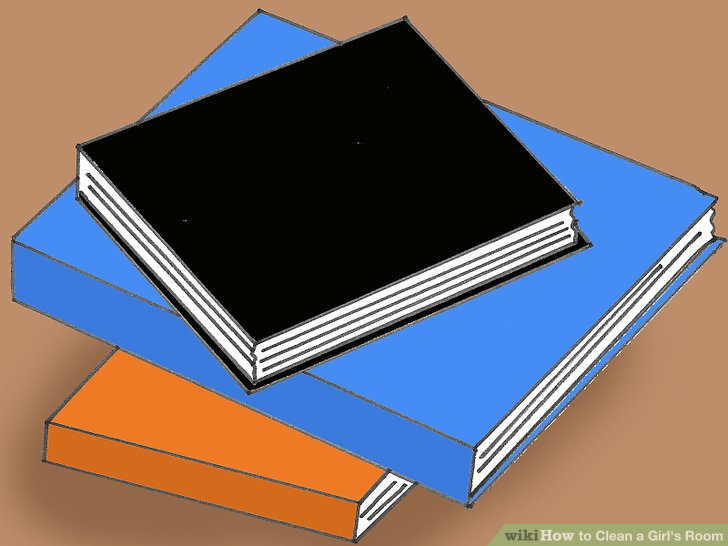 Nehmen Sie alle Bücher aus dem Bücherregal.