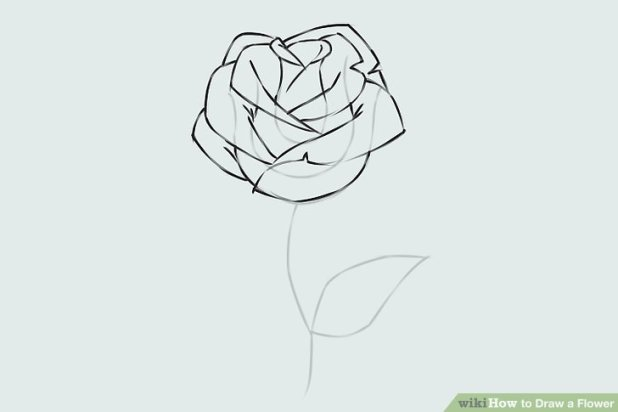 How to draw a good rose how to 9 easy ways to draw a flower wikihow ccuart Images