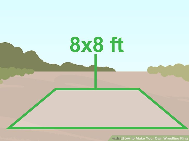 Measure and mark a square where your ring will go.
