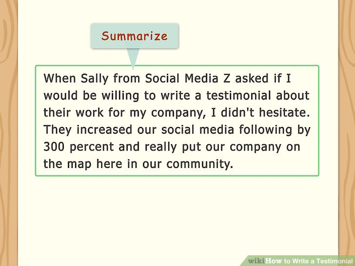 How to Write a Testimonial 11 Steps with Pictures  wikiHow