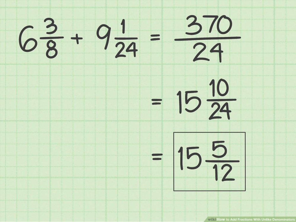 medium resolution of How to Add Fractions With Unlike Denominators - wikiHow