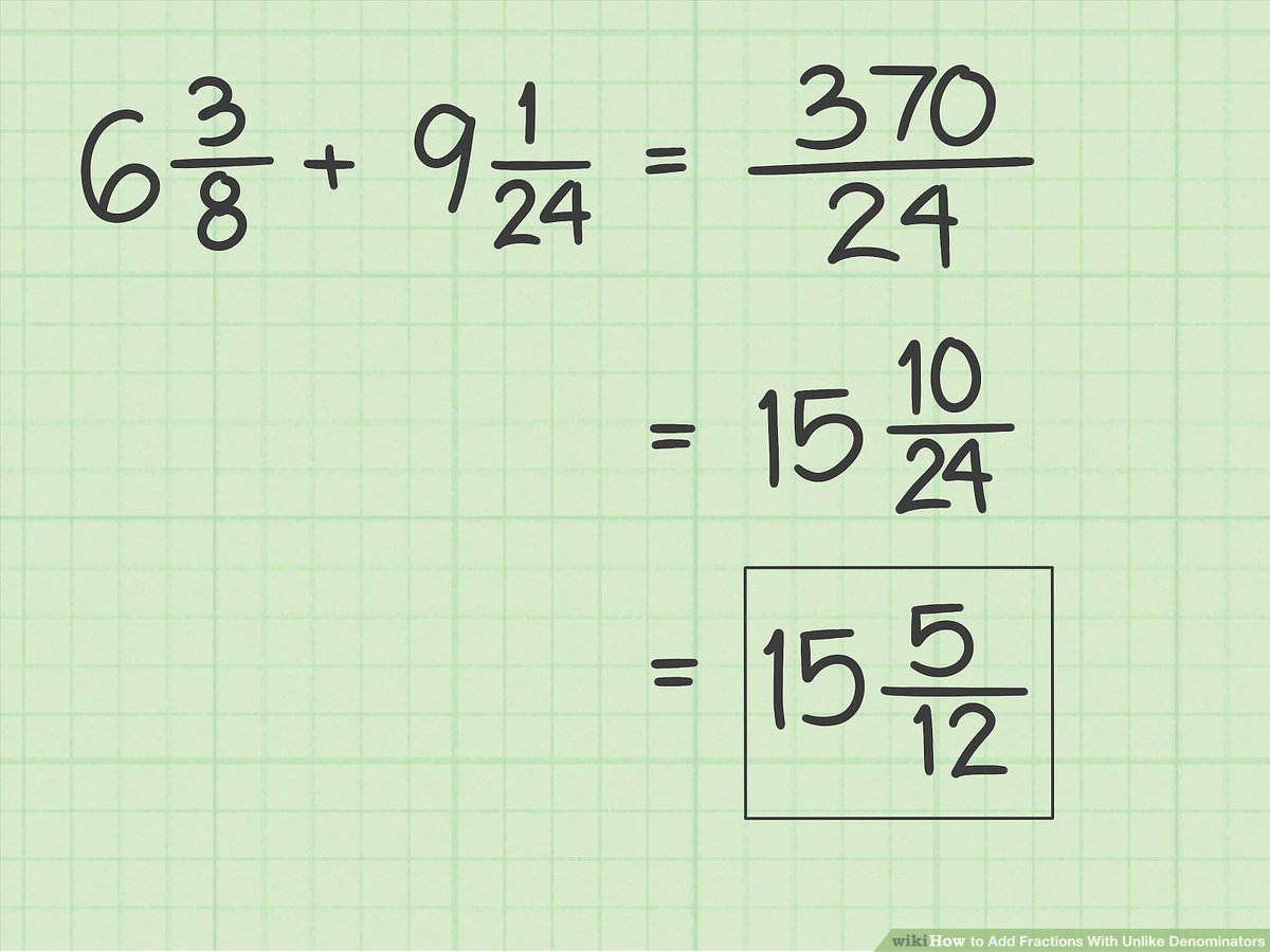 hight resolution of How to Add Fractions With Unlike Denominators - wikiHow