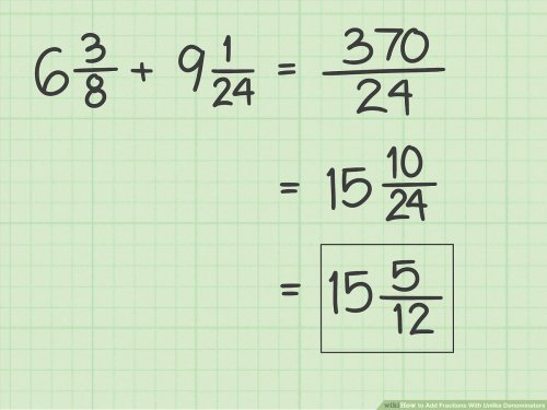 small resolution of How to Add Fractions With Unlike Denominators - wikiHow