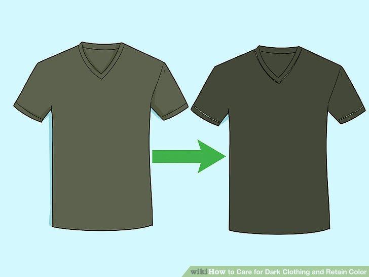 Dunkle Kleidung auf links wenden.