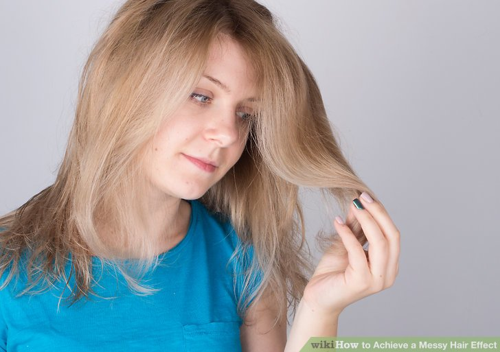 3 Ways to Achieve a Messy Hair Effect  wikiHow