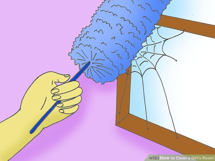 Machen Sie dasselbe mit den Fenstern und wischen Sie alle Spinnen / Staub / Flecken ab.
