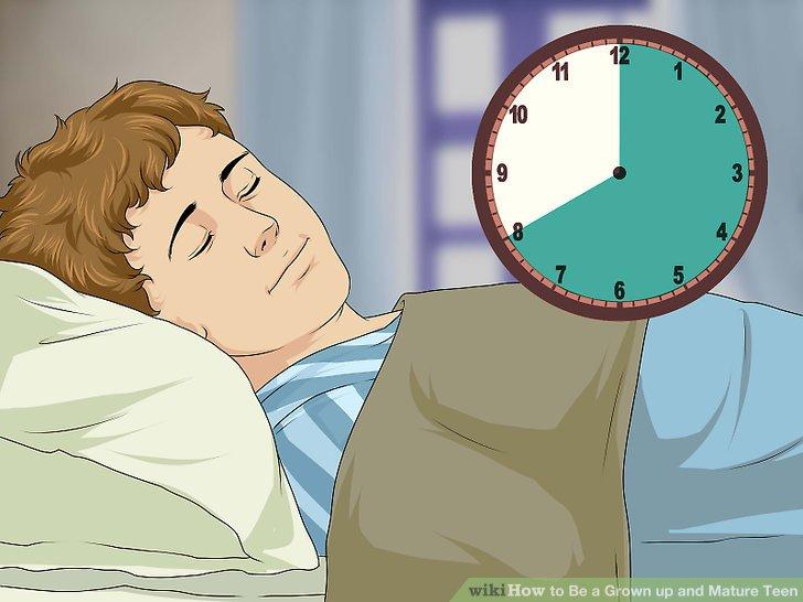 Genug Schlaf bekommen.