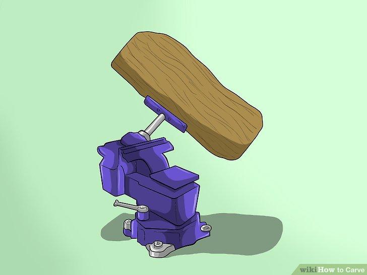Sichern Sie das Holz.