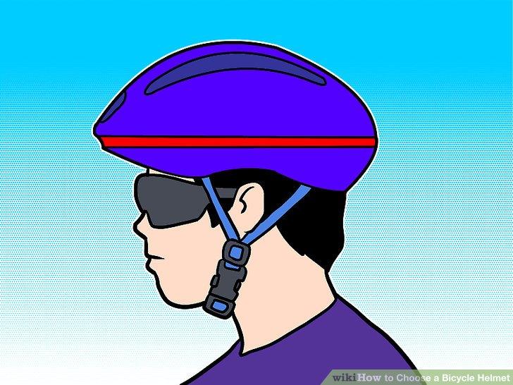 Vergewissern Sie sich, dass der Helm ungefähr auf der Hälfte Ihrer Stirn sitzt.