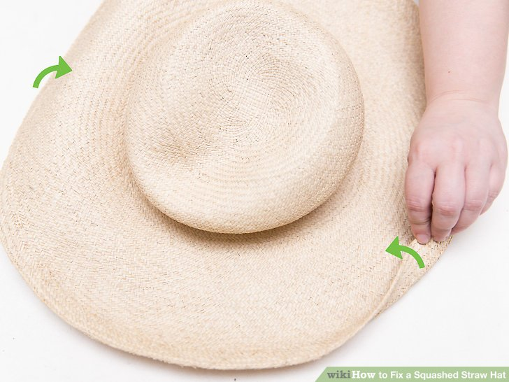 Use your fingers to mold the hat.