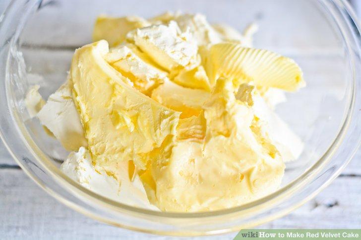 Butter und Frischkäse mischen.